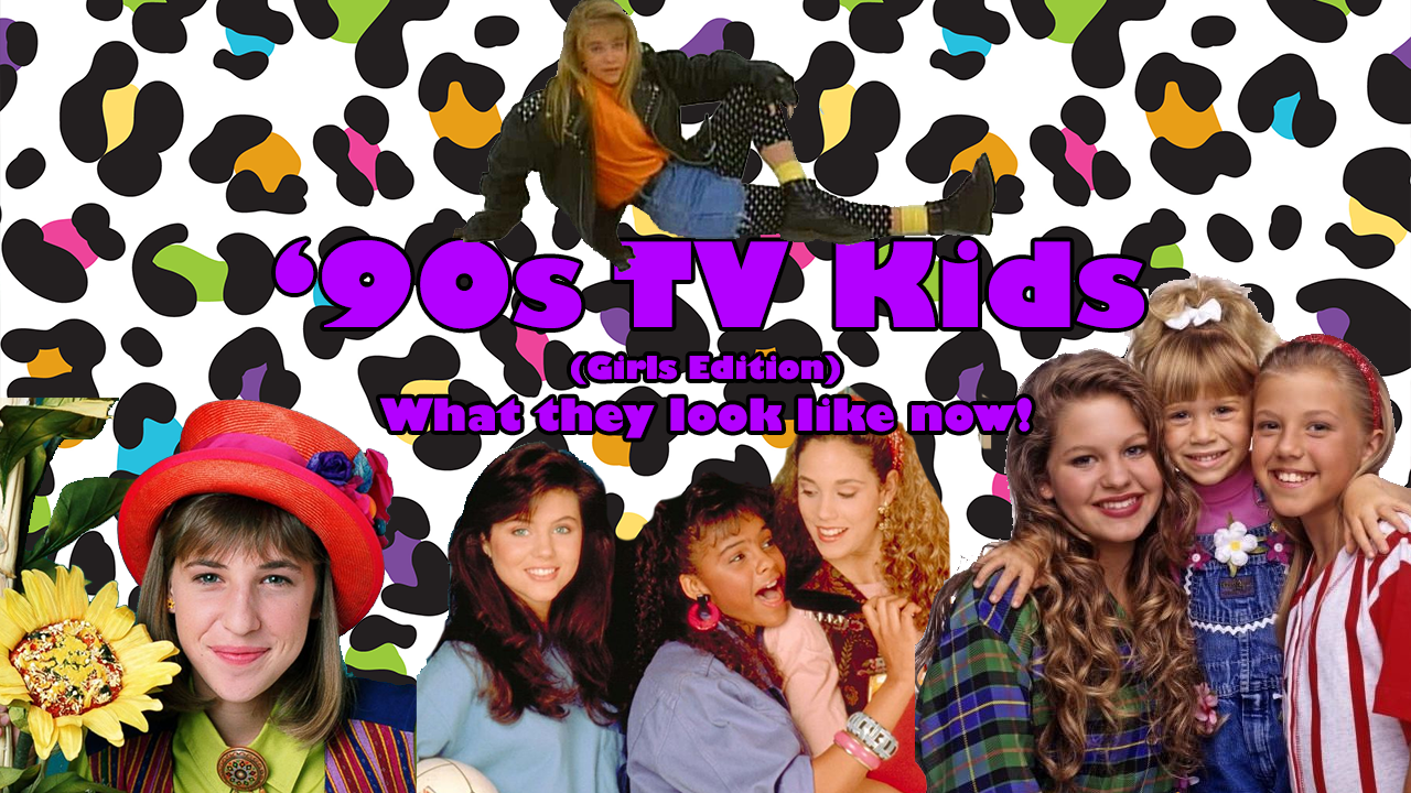 '90s TV Kids Female Edition Graphic Design Title Image for YouTube Video
