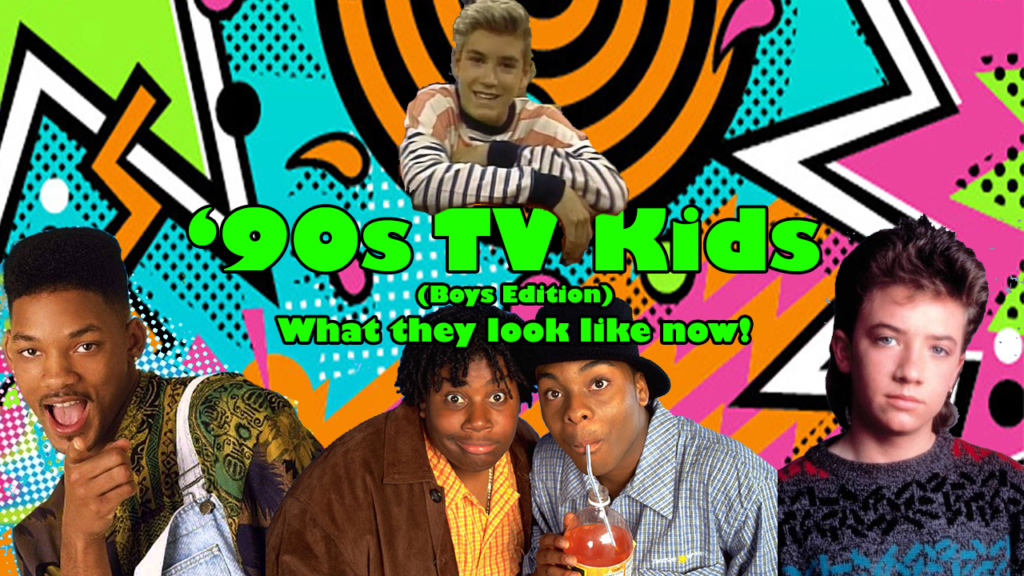 '90s TV Kids Male Edition Graphic Design Title Image for YouTube Video