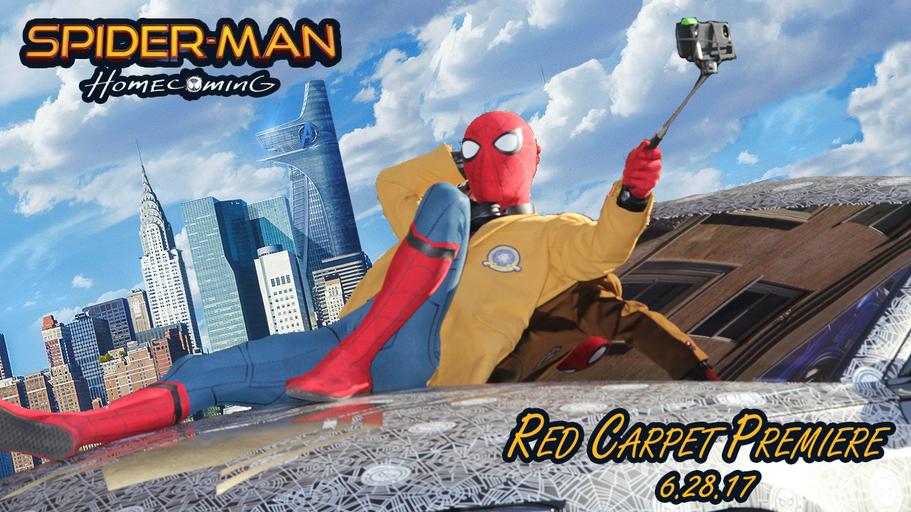 Graphic Design Image for Red Carpet Premiere video for Spider-Man Homecoming