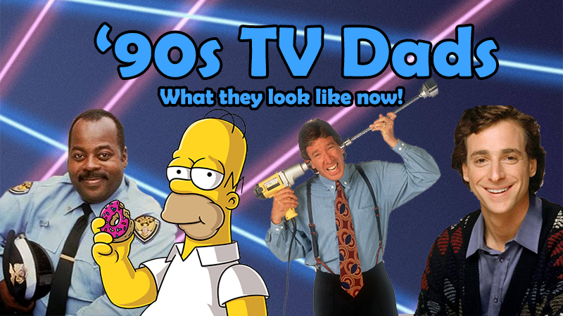 '90s TV Dads  Graphic Design Title Image for YouTube Video